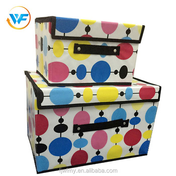 Etonnant Wholesale Polka Dot Box Fabric Garment Clothes Storage Box With Cover