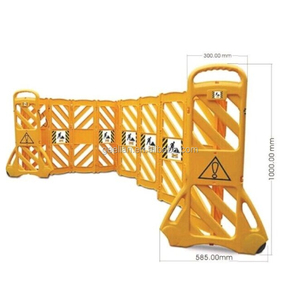 Hot Sale!Plastic Retractable Portable Fence Barrier Yellow Road Safety Expanding Barrier