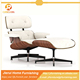 leisure chair replica living room furniture leather lounge chair with ottoman