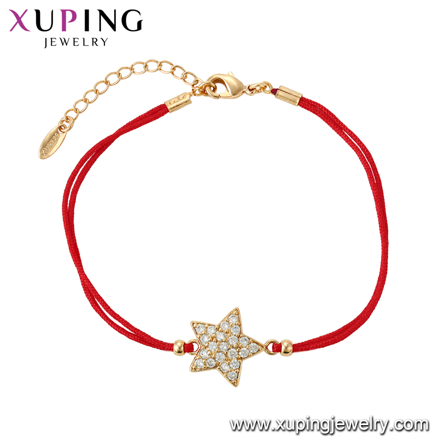 75561 Xuping Jewelry 18K gold color elegant bracelet with star shape