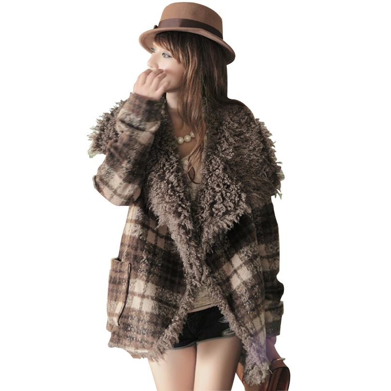 207c2ba31d3db Get Quotations · New Arrival Winter Coat Women Turn-down Fur Lapel Plus  Size Wool   Blends casacos