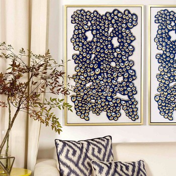 Home Staging Interior Decoration Items Framed Art Paintings Fabric