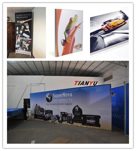 Easy Assembled Outdoor Advertising Stand Textile Frame