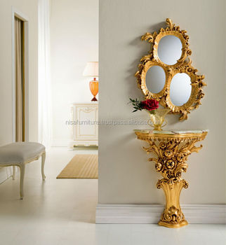 Luxury Antique French Provincial Console And Mirrors Ndt15 Buy