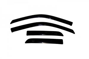 Dodge Ram 1500 Quad Cab Auto Vent Shades/Visors 4 pc set: Fits 2009, 2010, 2011, 2012, and 2013 Ram 1500 Quad Cab