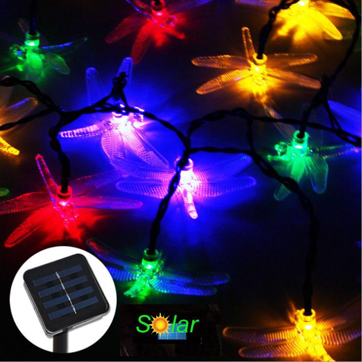 20LEDS Dragonfly Solar Led Christmas Tree Lights Solar ...