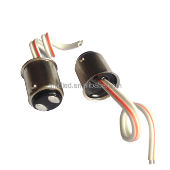 Ba15s Adapter Brass Lamp Socket With Wire