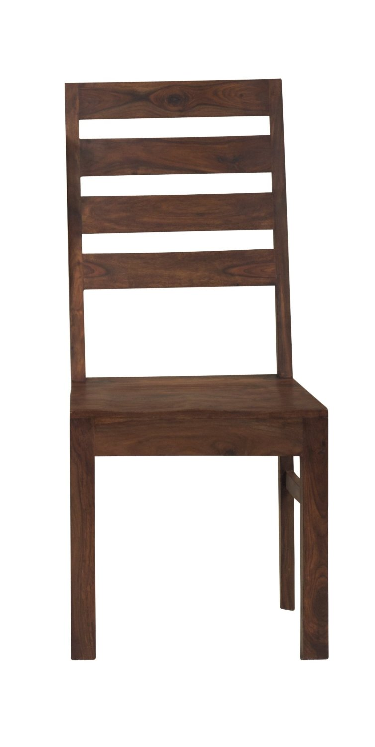 Get Quotations · Modus Furniture 5A4666 Genus Solid Wood Dining Chairs,  Sheesham (Set Of Two)