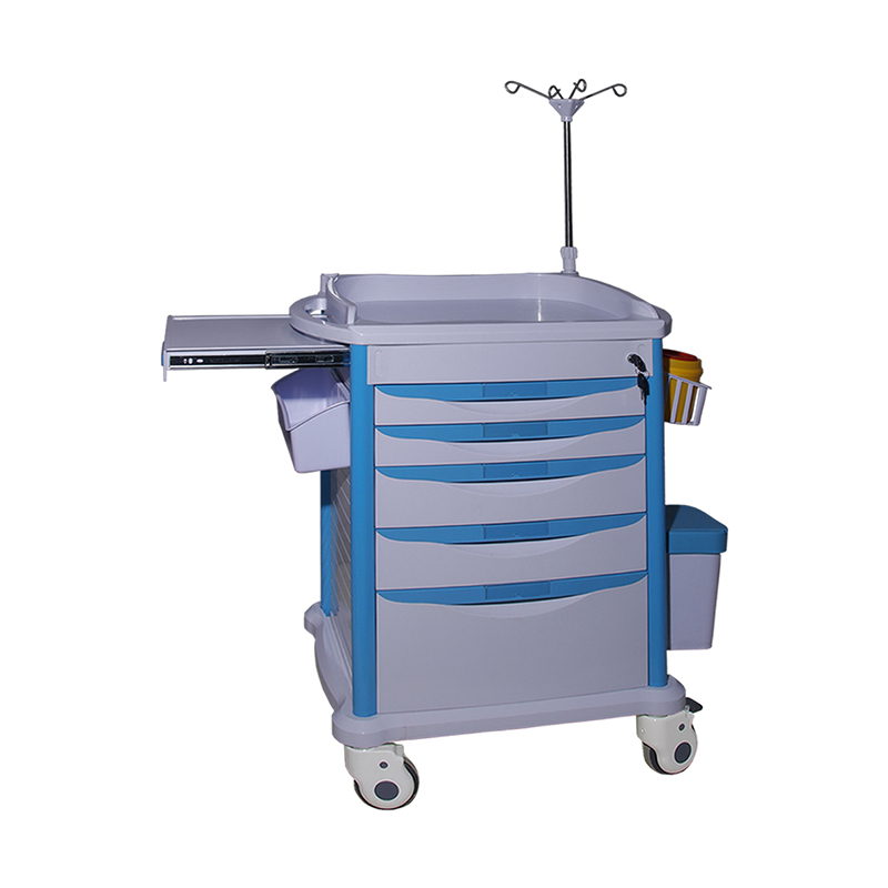 Clinic emergency trolley treatment cart