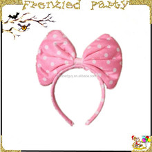 pink party cute girl large bow headband FGHD-0024