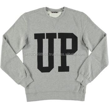 Custom Print Crew Neck Sweatshirts/mens Gym Hoodies Without Hood ...