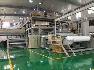 Non woven fabric production machine