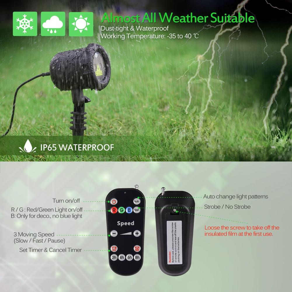 Star Waterproof Outdoor Christmas Shower Garden Laser Light Buy Timer With Remote Control Lightchristmas Decoration Product On