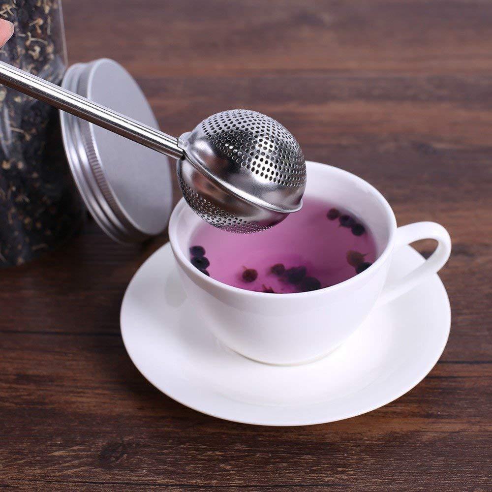 TSG GLOBAL Stainless Steel Teapot Tea Strainer Ball Shape Mesh Tea Infuser Filter Reusable Metal Tea Bag Spice Tea Tool Accessories