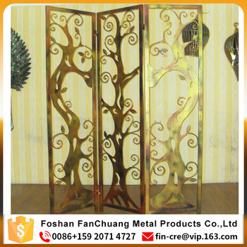 Laser Cut Home Living Furniture Metal Room Divider Decorative Screen