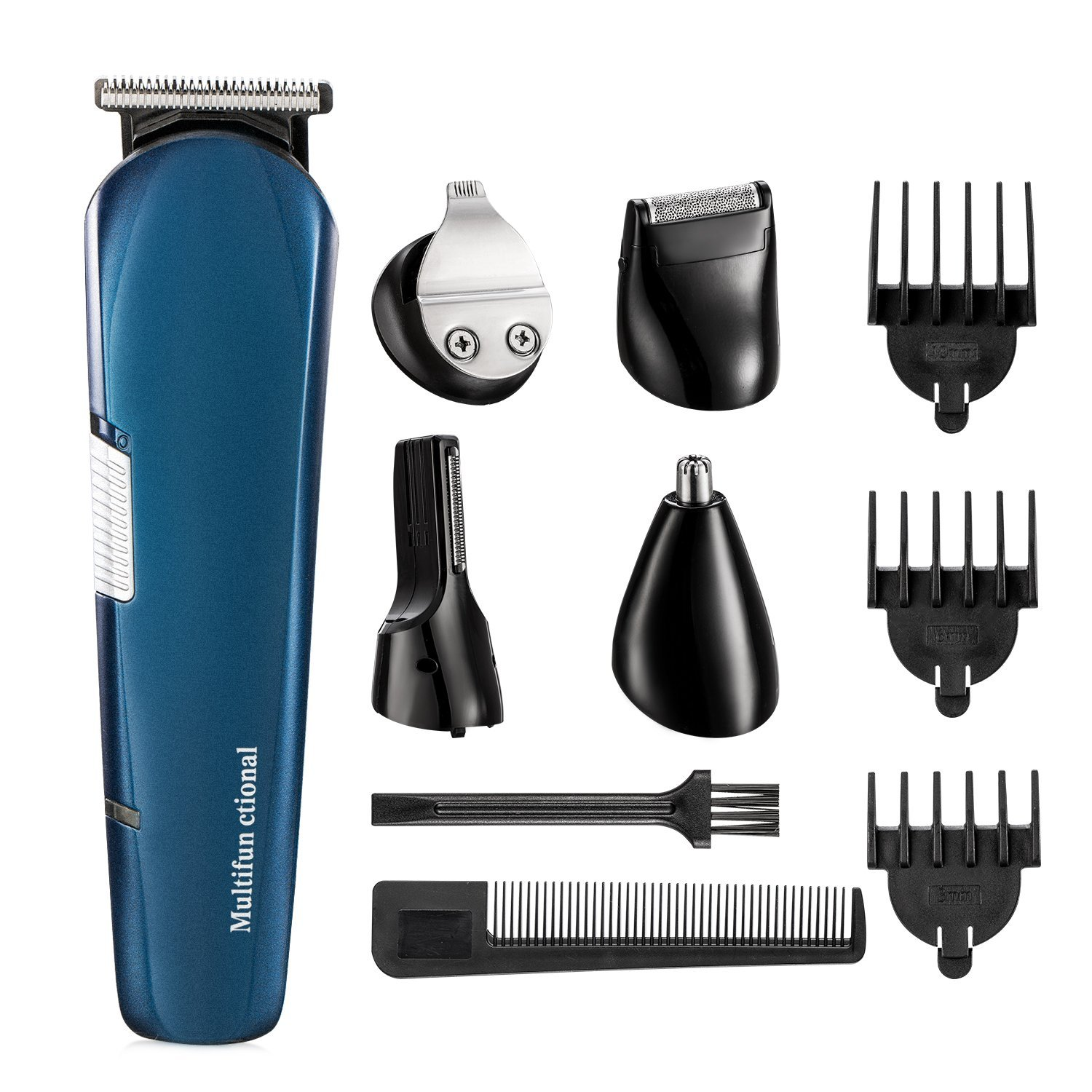 Beard Trimmer,ISIX Hair Clipper, 5 in 1 Lithium Powered Grooming Kit, Multigroom All-In-One Series of Mustache Trimmer, Eyebrow Razor , Nose Hair Trimmer and Precision Trimmer, Rechargeable and Cordle