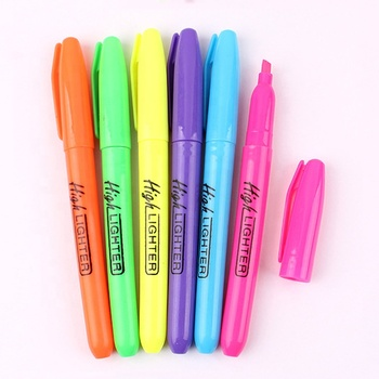 multicolor stationery highlight marker pen for promotion