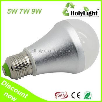Led Bulb 5w 6w 7w 9w 10w E27 100w Equivalent A19 Led Bulb