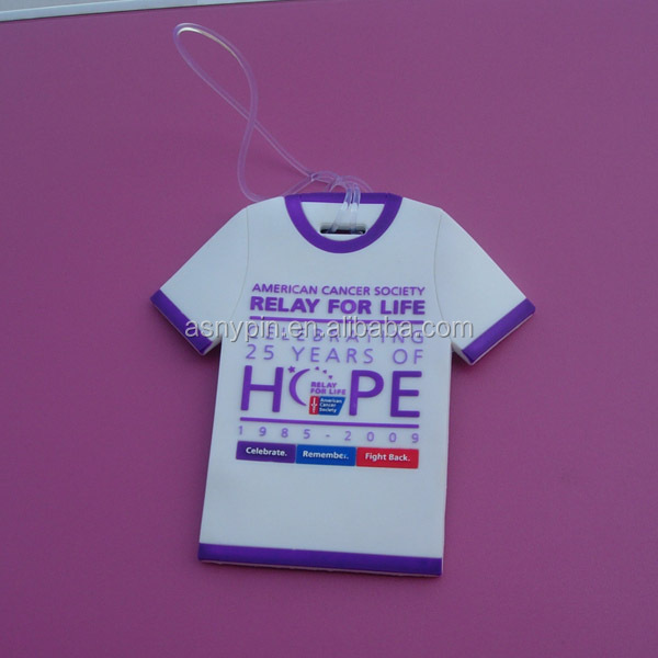 American Cancer Society Relay For Life T-shirt Design Souvenir PVC Luggage Tag