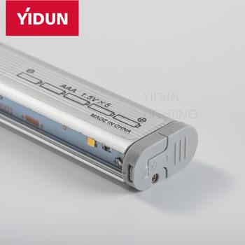 Led Inside Wardrobe Light Aluminum Hanger Rod Battery Operated For Clothing Lights