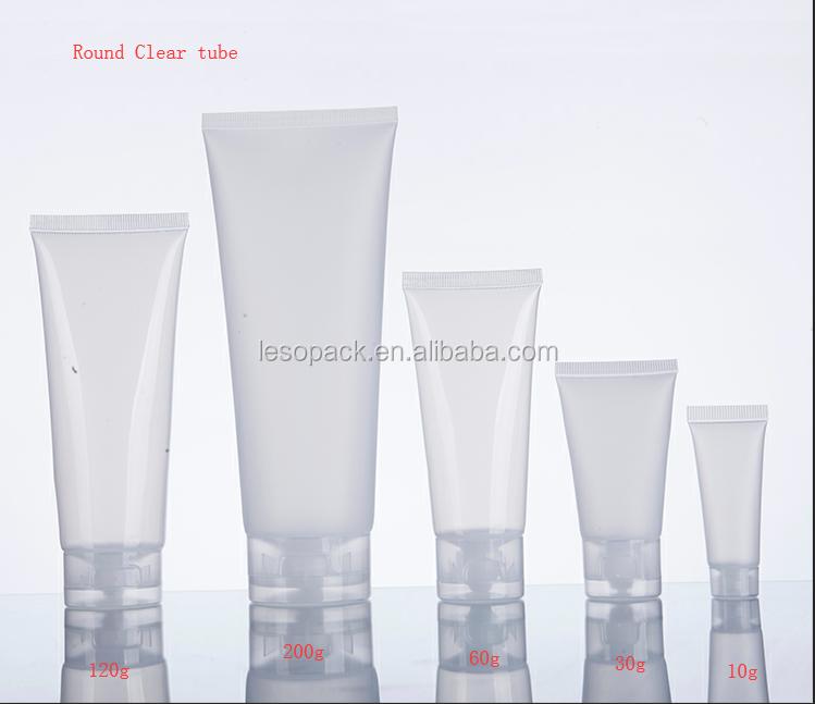 Baja cantidad Natural 15 ml claro brillo de labios de aceite suave apretar tubos de bálsamo de labio de embalaje