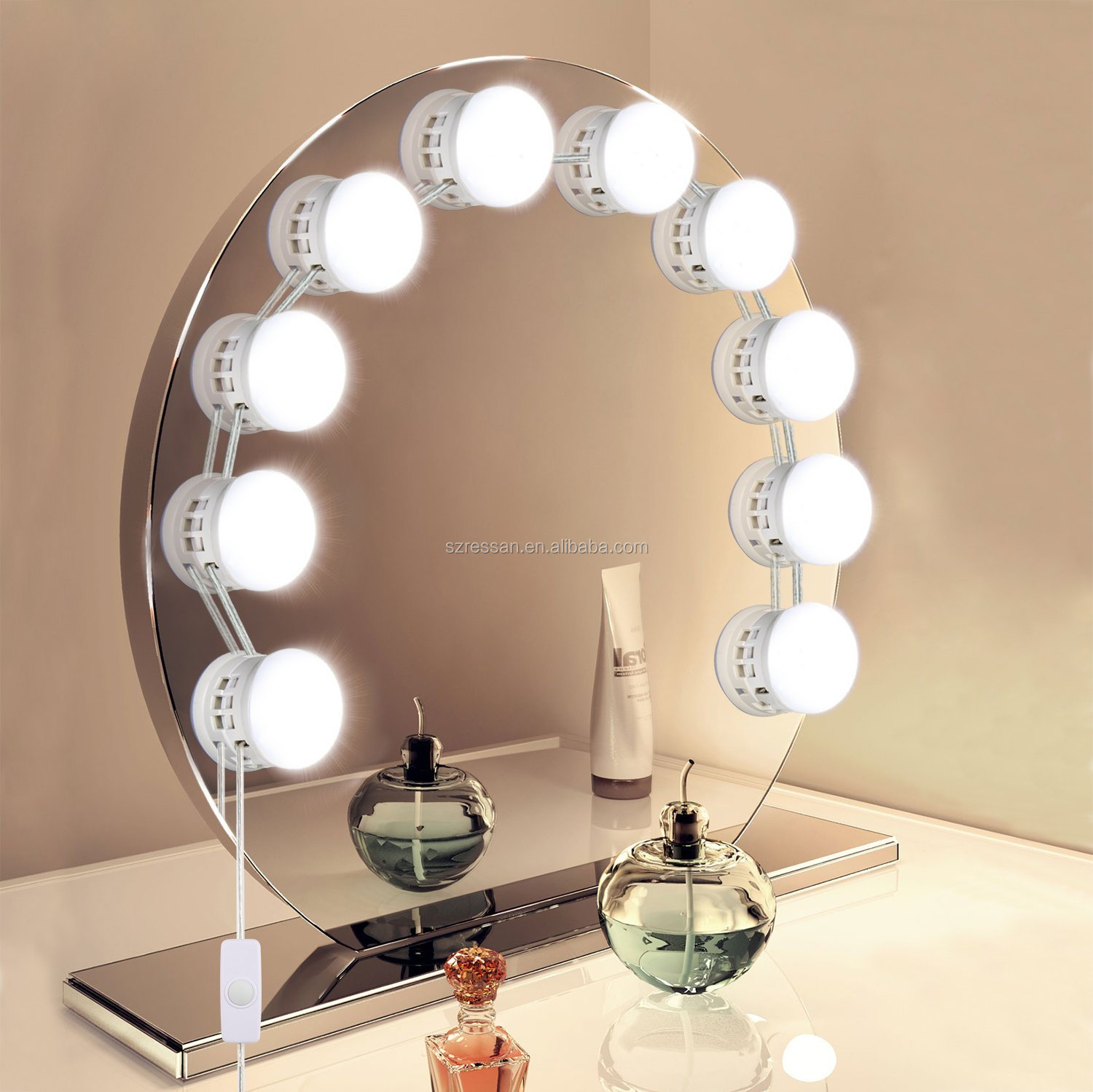 Hollywood Style Led Vanity Mirror Light Kit For Makeup Dressing Table Vanity Set