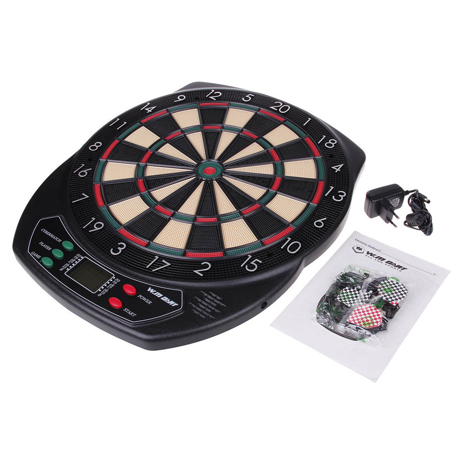 18'' professional electronic dartboard target Dart Game Set With 6 soft tip Darts for adults playing dart game Automatic scorer