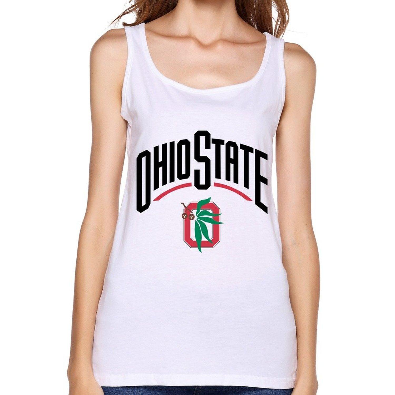 ZHENGMAO Women's NCAA 2015 Ohio State Buckeyes OSB Football Team Tank Top