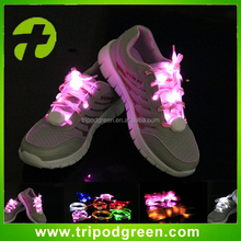 Glowing in the dark,super bright led glowing shoelaces made in China