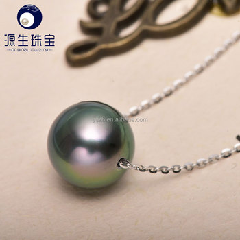 Ys 925 sterling silver pearl pendants necklace settings with 9 10mm ys 925 sterling silver pearl pendants necklace settings with 9 10mm natural black aloadofball Image collections