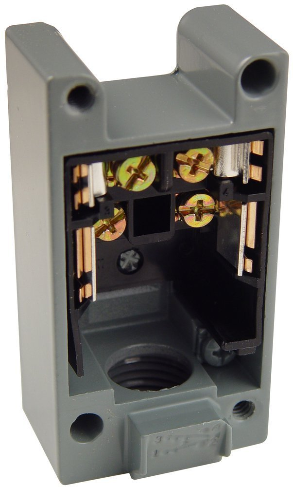 "Square D 9007CT54 Limit Switch Base, Standard Body, For 1 NO + 1 NC, 1/2"" NPT Entry"