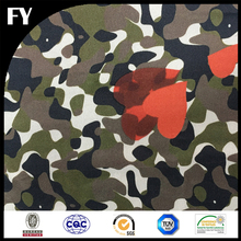 FY Fashionable 100 Silk Fabric Custom Digital Printed Navy Blue Camouflage Silk Twill Factory for Wholesale