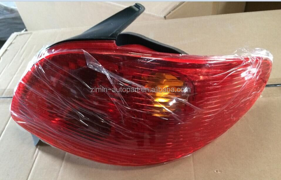ABS Plastic Auto parts red tail lamp rear lights for Peugeot 206 from 98