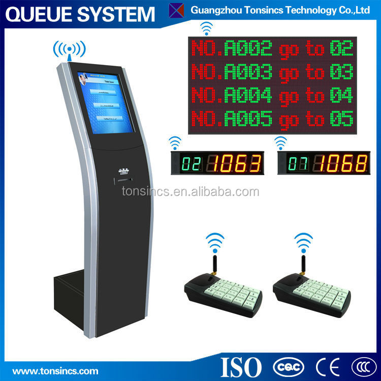 Tonsincs Electronic Bank Wireless Customer Flow Queue Management System