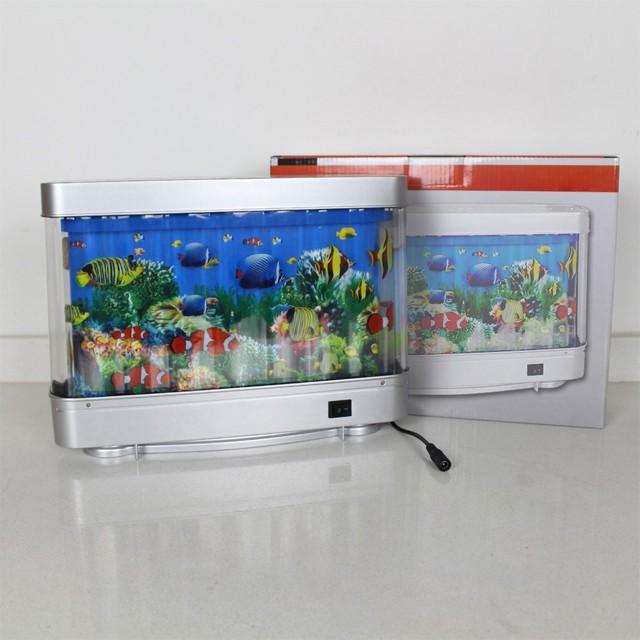 6w led decoration lamp artificial fish aquarium fake for Fake fish tank with moving fish