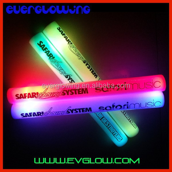 Concert Flash LED Foam Sticks with logo HOT sell 2016