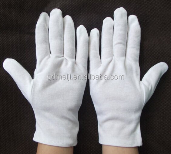 white cotton soft hand jewellery gloves for waiters