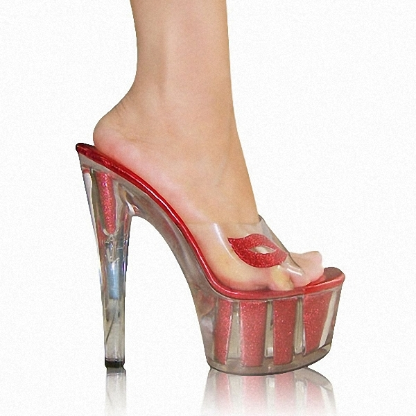 0bd9541d5090 Get Quotations · Shoes crystal 15 cm high heels The queen of night  necessary 15 thick number with sandals