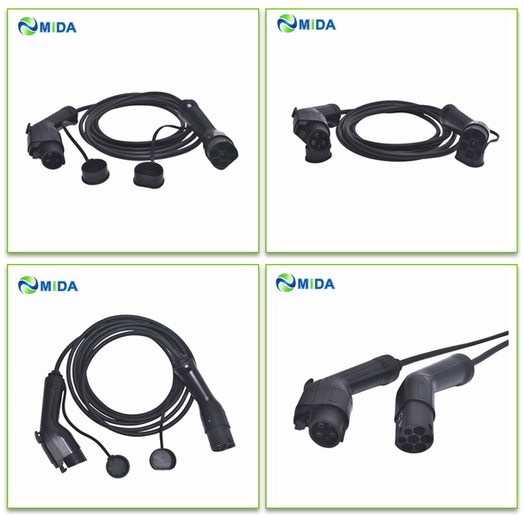 Electric Car//EV Charging Cable 16A 10m Type 2 to Type 1