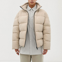 new product ideas solid color boxy puffer winter jackets for mens
