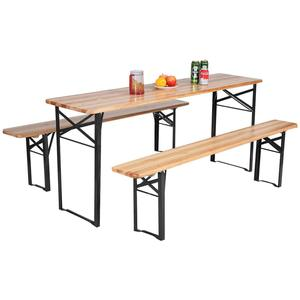 Wooden Folding Beer Table Set,Outdoor Beer Table and Bench Set