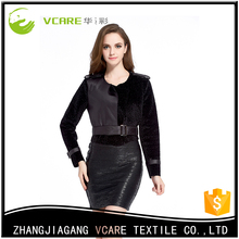 New Arrival Latest Design Cape Leather Fur Coat Cover tight skirt