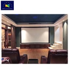 200inch 4K/HG white PVC fabric +gain 1.8 coating light- margin black velvet material fixed frame projector projection screen