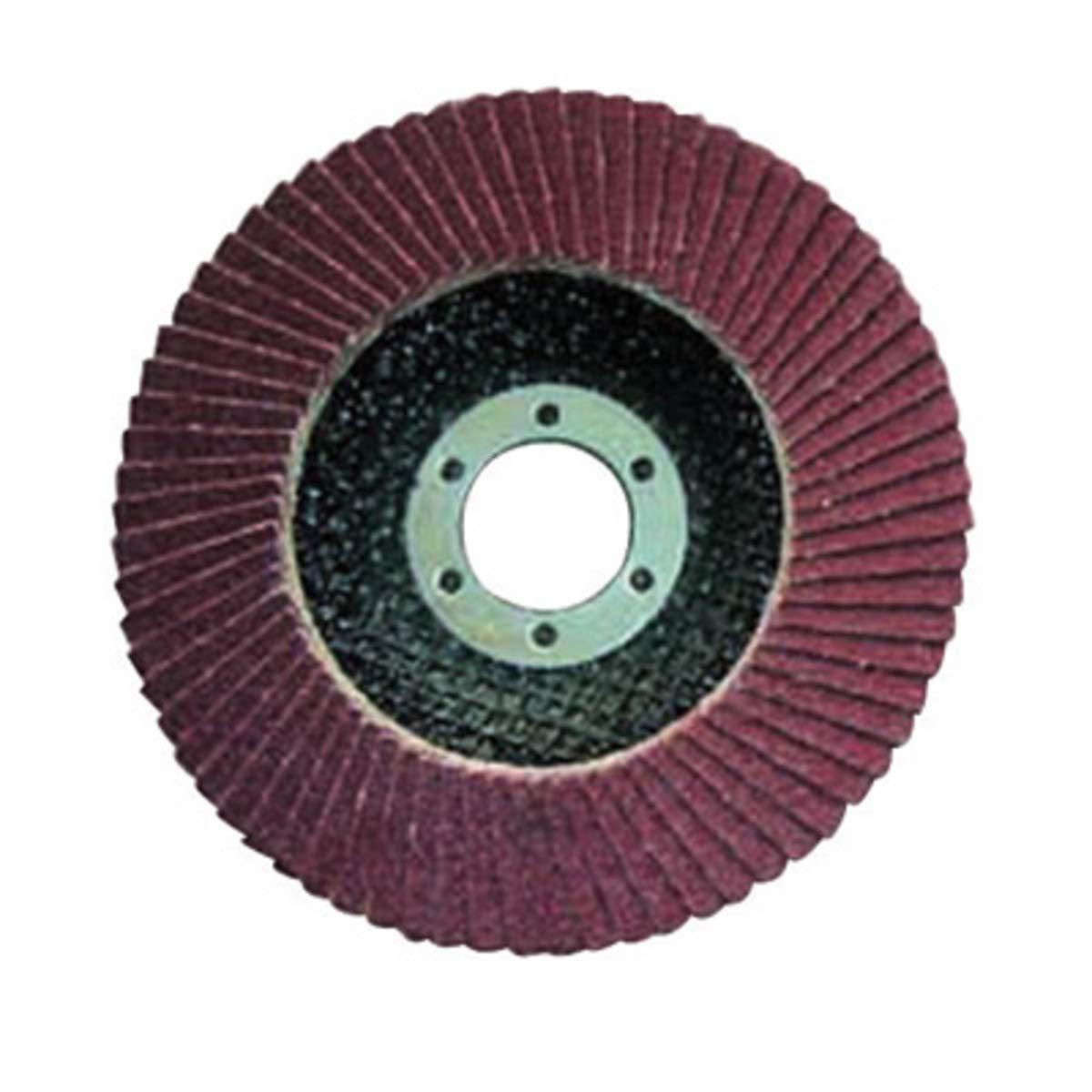 """Carborundum 4 1/2"""" X 5/8"""" - 11 40 Grit Premier Red Zirconia Alumina Type 29 Flap Disc (Pack Quantity 5)"""