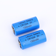 Best quality promotional 3.0V 1300ma alkaline CR123A battery