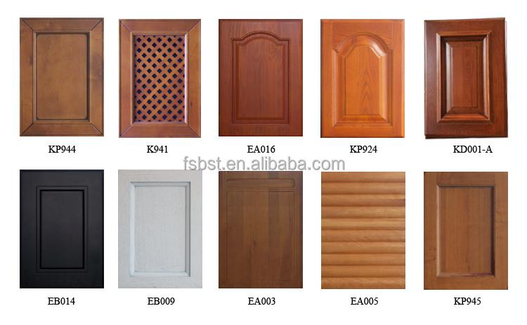 Sk006 Wood Veneer And Pvc Kitchen Cabinet Modern Kitchen