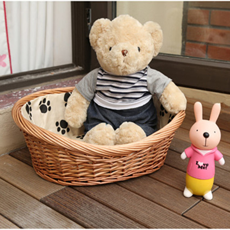 customized bedroom of pet <strong>dog</strong> , cat, teddy little pet with straw wicker manufacturers selling
