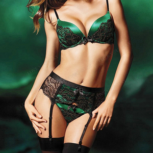 Fashionable sexy lingerie underwear lace sets custom new design women sexy fancy bra panty set