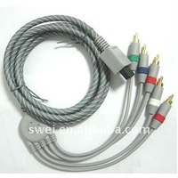 For Wii Component Cable covered with net