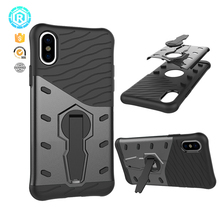 Mobile phone accessories unlock full cover back phone case for iPhone 8 case covers TPU PC